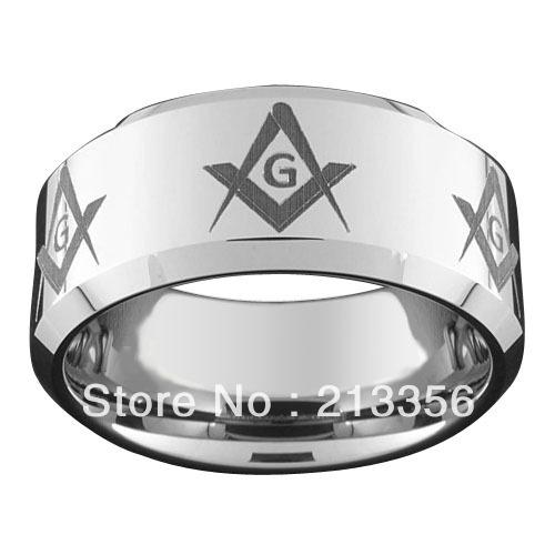 Freemason Rings Tungsten Cut Tungsten Masonic Ring