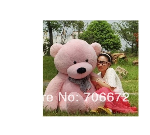 New stuffed pink teddy bear Plush 200 cm Doll 78 inch Toy gift wb8457(China (Mainland))