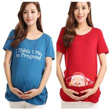 Maternity Tops Nursing Pregnancy T-shirts Cute Baby Printed Clothes For Pregnant Women Tee Shirt Femme(China (Mainland))