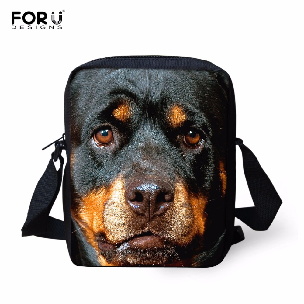 2016 Casual Brand Animal Rottweiler Pattern Messenger Bag for Women Mini Teenager Girls Crossbody Bag Outdoor Travel Bag Retail(China (Mainland))