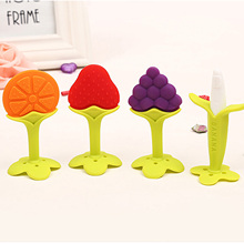 Baby Care Silicone Baby Teether Fruit and Vegetable Shape Baby Dental Care Toothbrush(China (Mainland))