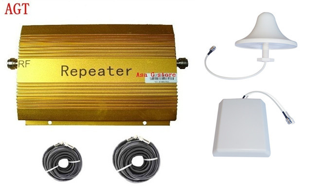 product 1 set 200 sqm coverage AGT CDMA 850MHz mobile signal booster repeater amplifier+panel & ceiling antenna+two cable