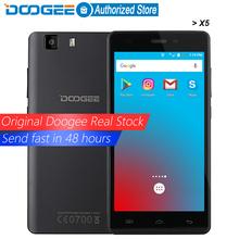 Original DOOGEE X5 mobile phones 5.0InchHD 1GB RAM+8GB ROM Android 5.1 Dual SIM MT6580 Quad Core 1.0Ghz 2400mAH WCDMA WIFI(China (Mainland))
