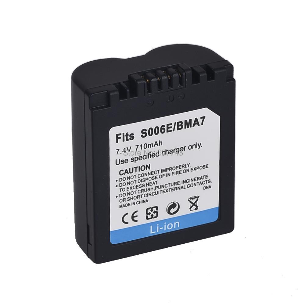 1pcs 710mAh CGA-S006 CGR CGA S006E DMW-BMA7 DMW BMA7 Battery for Panasonic DMC FZ7 FZ8 FZ18 FZ28 FZ30 FZ35(China (Mainland))