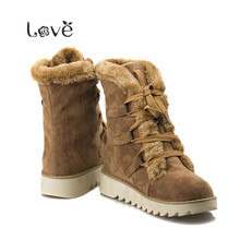 Winter Women Boots Hot New Snow Women's Boots Mid-Calf Boots Cheap Woman shoes online Suppliers botas femininas 2015 34-39 DX128(China (Mainland))