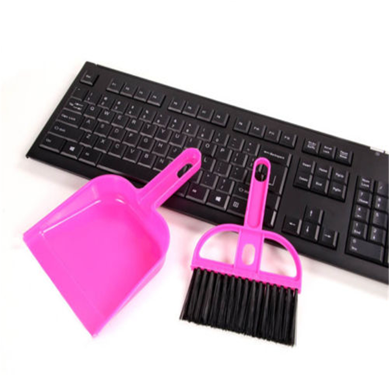 2016 New Small Brooms Whisk Dust Pan Table Keyboard Notebook Dustpan + Brush Set Cleaning(China (Mainland))