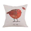 on promotion wholesale cheap price 45cm 45cm 6 kinds of bird linen home decorative pillow case
