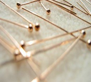 Jewelry Findings 45mm rose copper ball head pin