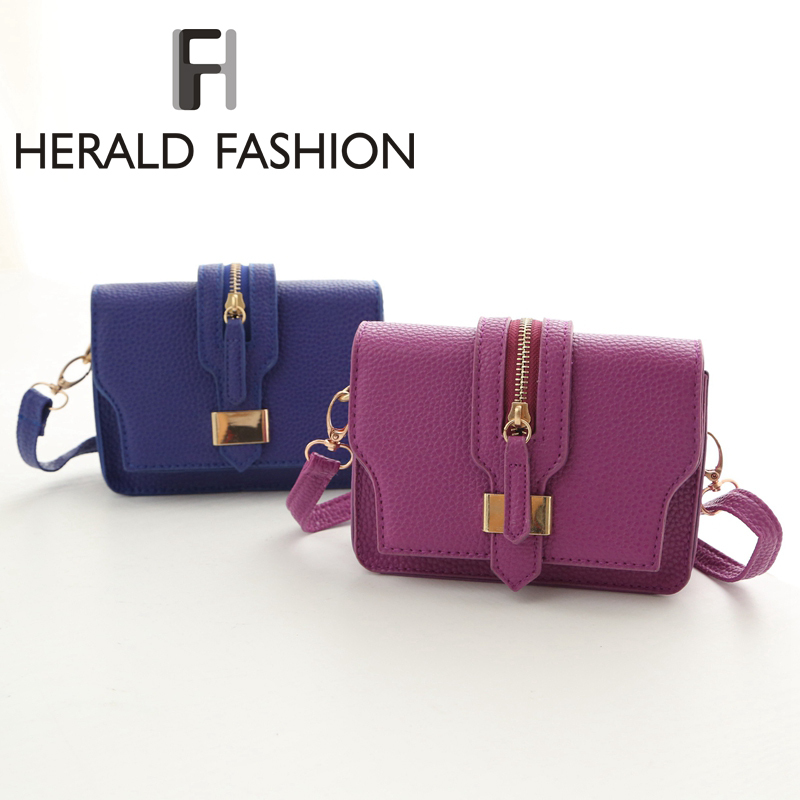 Herald Fashion Small Mini Women Messenger Bag Candy Color Zipper Flap Bag Women Shoulder Bag Satchel Women Handbag Corssbody Bag<br><br>Aliexpress