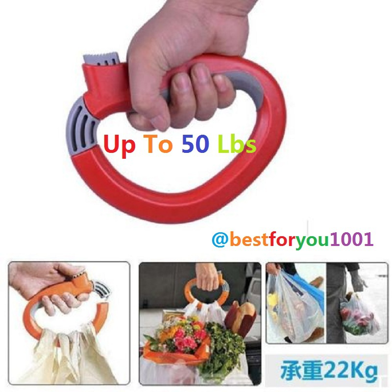 1PCS One Trip Grips Lock Labor Saving Tool Grocery Holder Handle Shopping Bag Carrier Hot Selling New Free Shipping(China (Mainland))