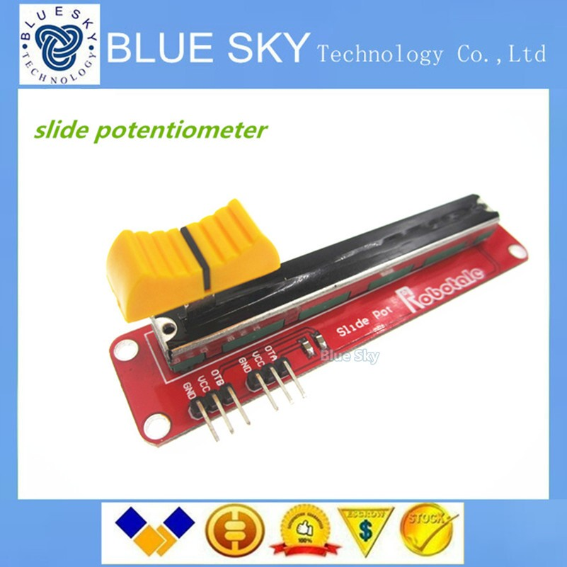 Free shipping 1pcs Hot Electronic Block 10K Sliding Slider Potentiometer Module For Arduino For MCU For ARM For Other Single Chi