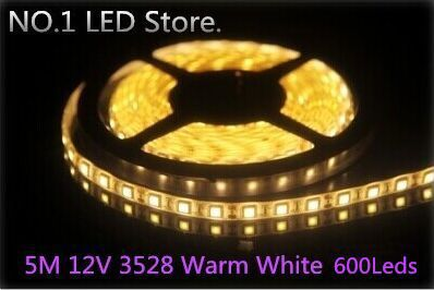 !! 50M 3528 Warm White SMD Flexible Strip 120leds/M waterproof Light Lamp DC 12V - NO.1 LED Store store