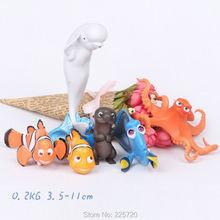 6pcs/set 2016 Movie Product Finding Nemo/Finding Dory Figures Charlie Nemo Jenny Marlin PVC Figure Model Toys(China (Mainland))