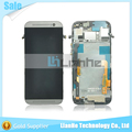 New replacement for HTC One M8 lcd display with touch screen digitizer with frame complete silver