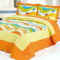 2015  good quality 112-2 colorful prewash bedcover bedding set