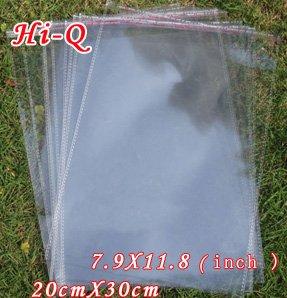 300PCS/LOT 20CM x 30 CM Transparent Opp Bag Packing Plastic Bags(China (Mainland))