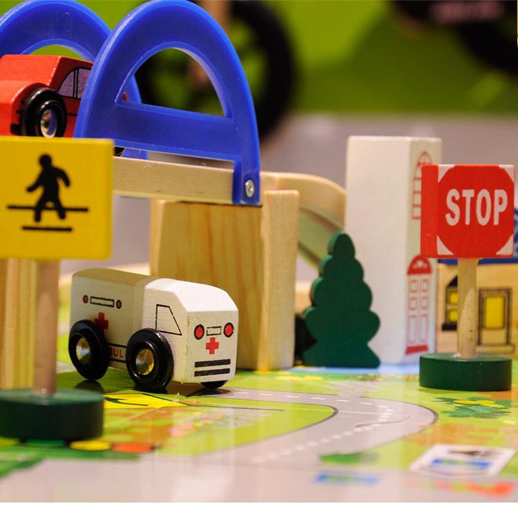40 pcs wooden railway Trians puzzle toys(China (Mainland))
