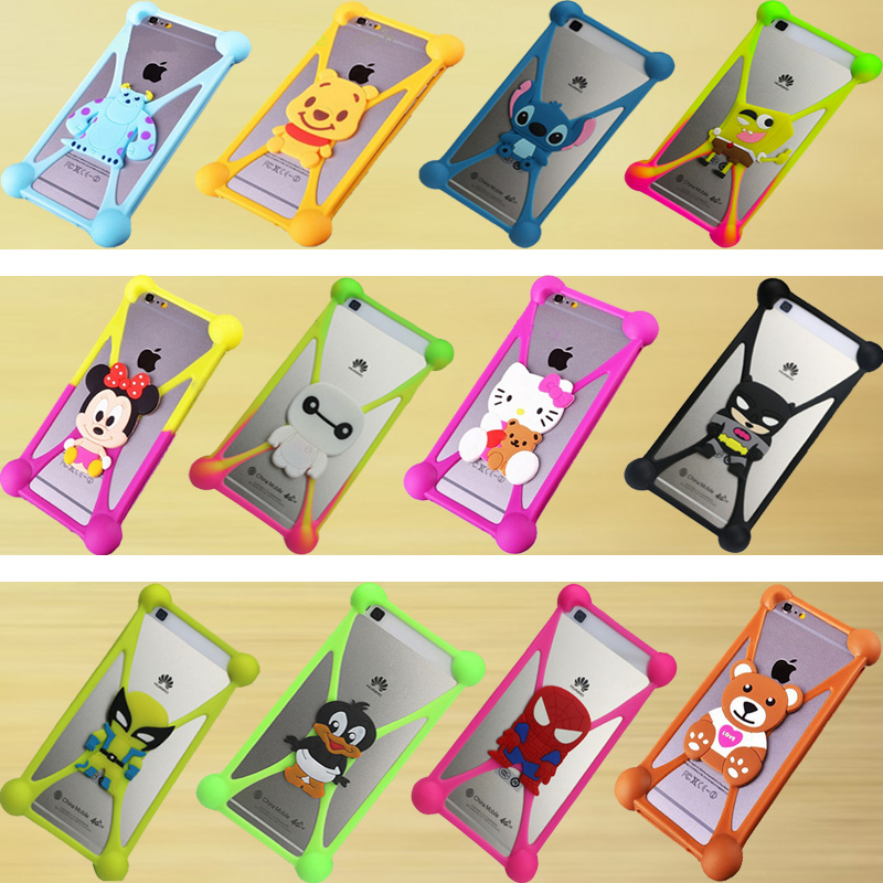 fashion Cute Cartoon Silicone Universal Cell Phone Holster Cases Fundas For Blackberry Z10 Case Silicon Coque Cover(China (Mainland))