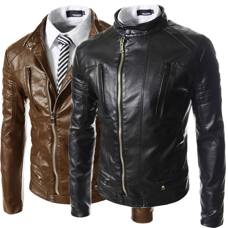 Brand Leather Jacket Men Jaqueta Couro Masculino Bomber Leather Jacket Motorcycle Jacket Faux Leather Clothes For Man