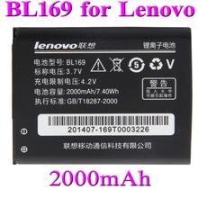 10 pcs 2000mAh BL169 battery for Lenovo A789 P70 P800 S560 Batterie Bateria Batterij Accumulator AKKU(China (Mainland))