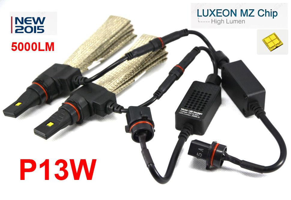 4 Sets P13W 40W 5000LM CREE / PHILIP LED Headlight Kit LUXEON MZ CHIP Xenon White 6000K 12/24V Driving Fog Lamp PSX24W PSX26W H7(China (Mainland))