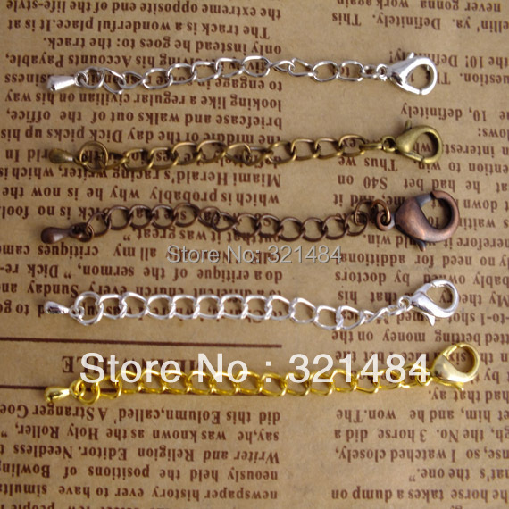 HOT SALE 500pcs Jewelry Chain Bracelet Necklace end extender with clasp findings<br><br>Aliexpress