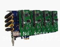 GSM400E,4 ports GSM modules Asterisk card PCI-E Card, 850/900/1800/1900mhz