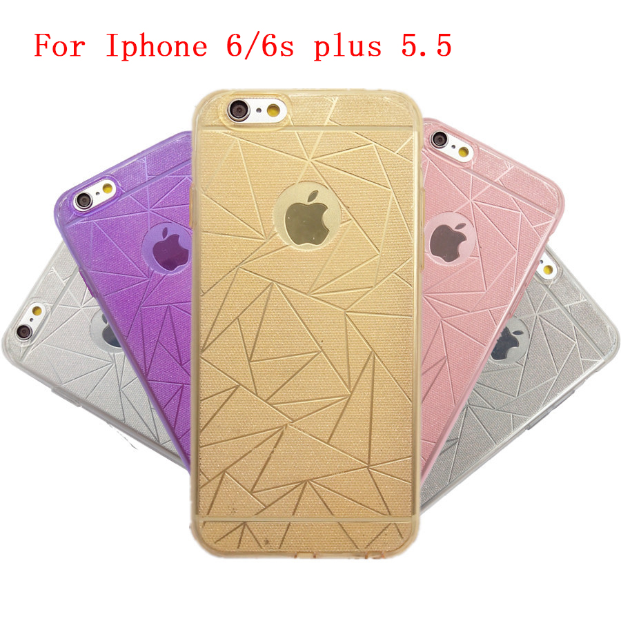 Luxury with glitter pink dust plug phone case for apple iphone 6s plus TUP cover mobile phone accessories for iphone 6 plus 5.5(China (Mainland))