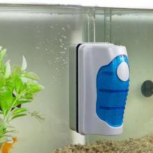 BY DHL OR EMS 500PCS New Qualified Magnetic Brush Aquarium Fish Tank Glass Algae Scraper Cleaner Floating Curve Jan9(China (Mainland))