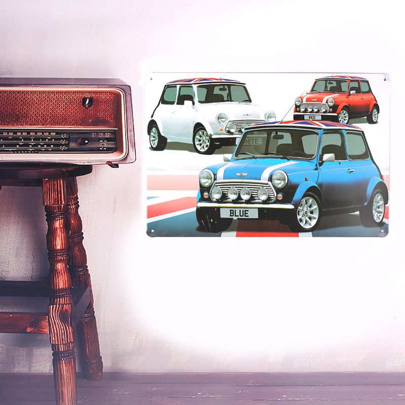 European Retro style English car sign board Wall stickers metal iron crafts pictures Furnishing articles painting draw bar house(China (Mainland))