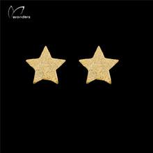 1Pair 2015Trendy Jewelry Star Stud Earrings Fashion Earrings For Women 18K Gold/Silver Plated Hot Women/ Jewelry