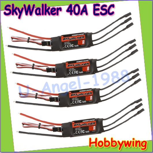 Wholesale 4pcs/lot Original Hobbywing Skywalker 20A 40A ESC Speed Controler For RC Airplanes Helicopter Quadcopter BLM Dropship(China (Mainland))