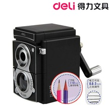 Deli 0668 pencil machine pencil sharpener restore ancient ways camera shape Art Style(China (Mainland))