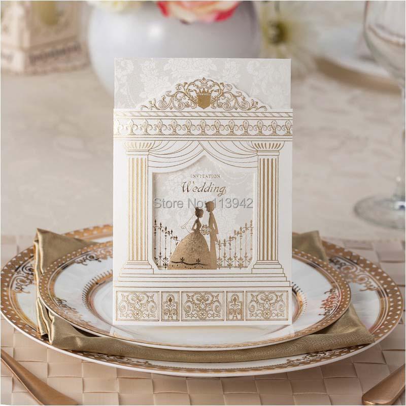 Romantic Church Wedding Invitations 2015 White Laser Cut Envelope Invitation Card Convites Casamento as Wedding Decorations(China (Mainland))