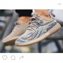 Free shipping Top Quality 350 550 Yeezy Sea Wave boosts light grey gum Men and Women black gray us 5-11 Come with receipt yezzys(China (Mainland))