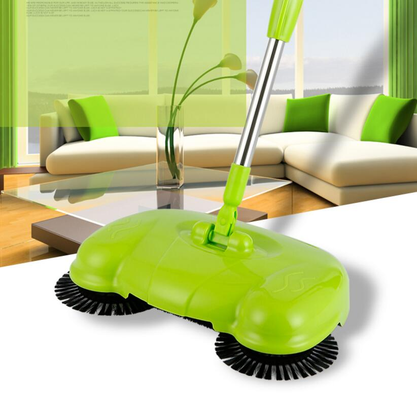 yiJiA Push Sweeper Vacuum Cleaner Household Floor Cleaner Manually Cleaning Machine Broom no need bend over no electricit(China (Mainland))