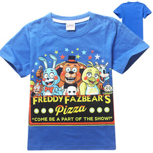 Five nights at freddy t shirt kids clothes boys clothing freddy's camisetas t-shirt kids fashion boys clothes children t shirts