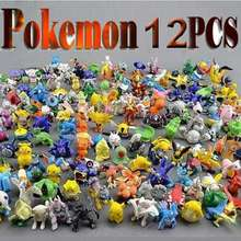 12Pcs / Lot New Pokemon Toys 2-3cm Mini Cartoon PVC Action Kids Toys Action Figure Birthday Christmas Gift Retail / Wholesale (China (Mainland))
