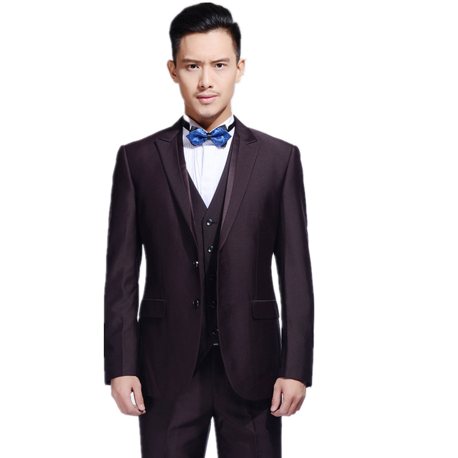 The 2015 men 39 s casual business dress suit groomsmen men for Dress suits for wedding