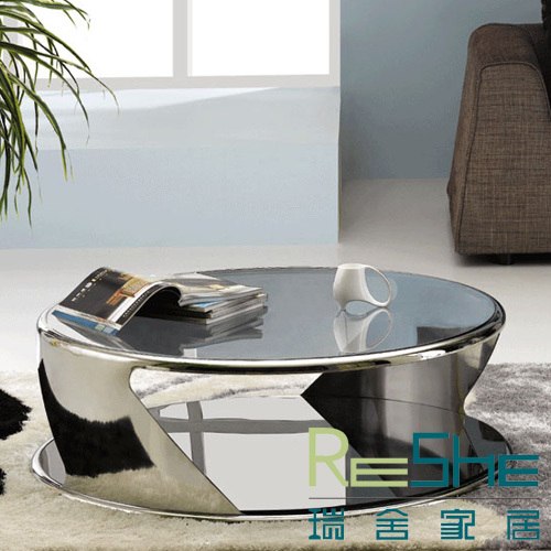 Table basse en verre suisse - Table ronde en verre design ...