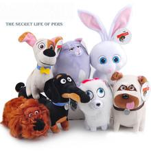 Free shipping Large 7Styles The Secret Life of Pets Plush Toys Dogs Animal Dolls Buddy Max Snowball Mel Chloe(China (Mainland))