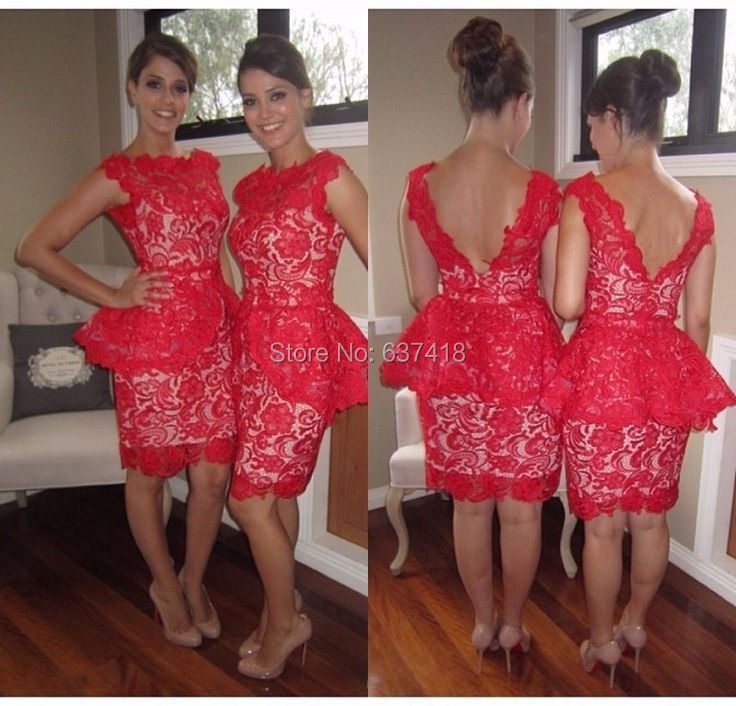 Red dresses for juniors robes