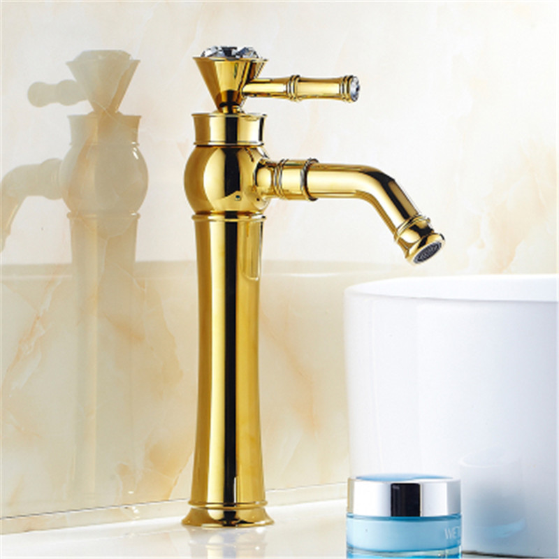 High End Faucets : faucets,brass golden bathroom basin sink mixer faucet,high end ...