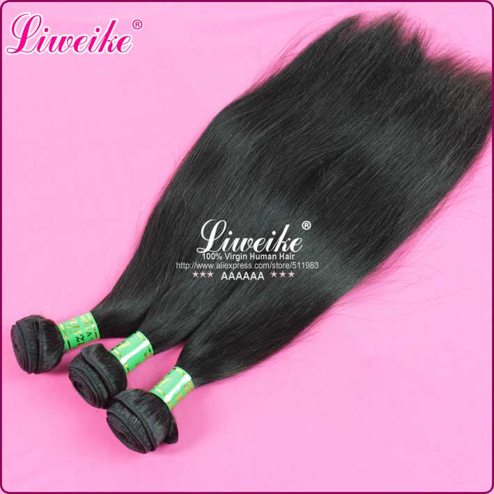 Здесь продается  mix 12/14/16 straight hair virgin remy hair weft brazilian human hair extensions 1b  Волосы и аксессуары