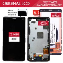 4.6 Inch Original IPS 1280x720 Display For SONY Xperia Z3 Compact LCD Touch Screen Digitizer with Frame Z3 mini D5803 D5833(China (Mainland))
