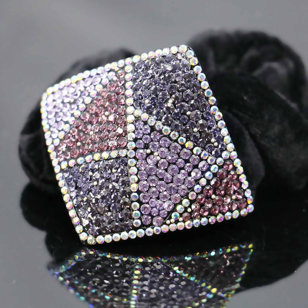 55*62mm Hair Accessory Wedding Headdress Crystal Elestic Clip Clamps Hairpin Rhinestone Gifts Jewelry Making Design Gifts(China (Mainland))