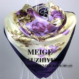 90 см * 90 см платок Испания пляж шарф дамы лето печатных wrap шаль женская мода марка цены в евро шарф bufandas
