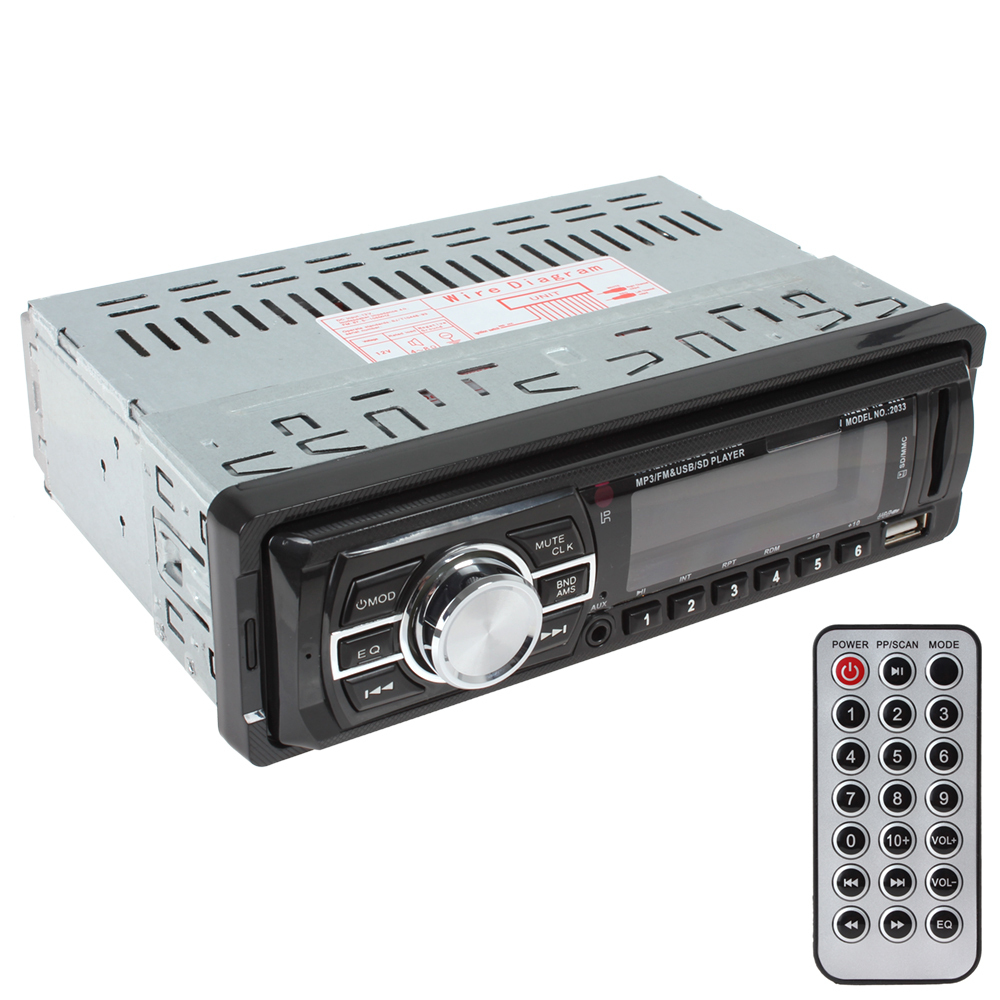 Car Audio Stereo In Dash FM Aux Input Receiver SD USB MP3 Radio Player