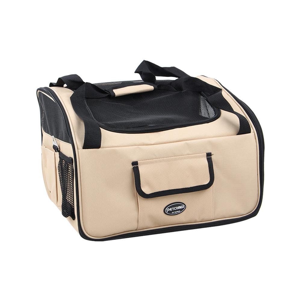 1Pcs Beige Car Safty Seat Carrier Shoulder Bag Crate Cage Travel For Cat Dog Cat Puppy Pet(China (Mainland))