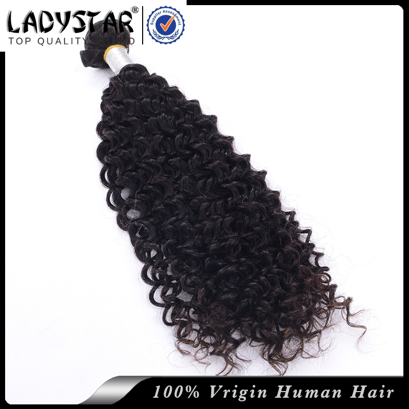 LADY STAR Hair Products Peruvian Kinky Curly Hair 3Pcs Lot 7A Unprocessed Virgin Peruvian Hair Extensions Afro Kinky Curly Style(China (Mainland))